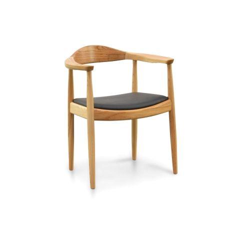 PP503 Round Dining Armchair - Hans Wegner Replica - Natural $237