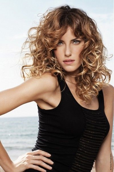 Beautiful Ombre aka Dye Dip long women hairstyle