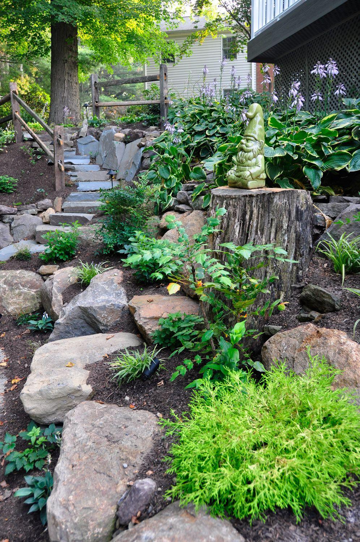 Stairway Backyard Landscaping