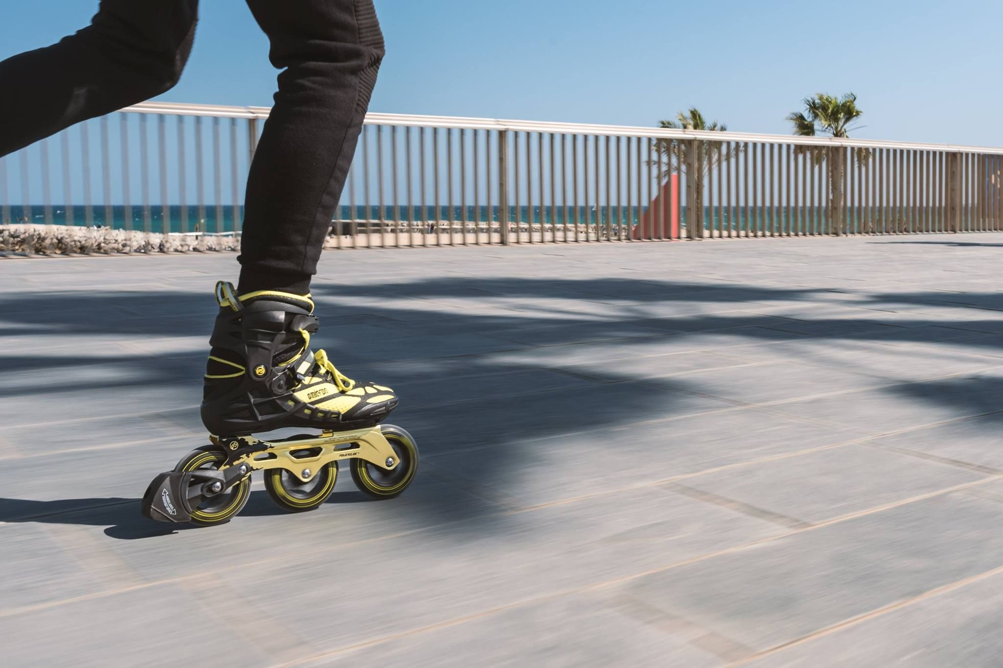 Skate Fast Stop On Point The Powerslide Omicron Triskates Come Stock With Our Height Adjustable Braking System The Habs Th Inline Skating Skate Skateboard