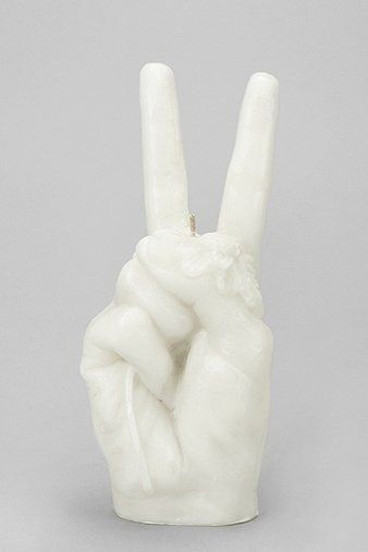 Peace Sign Candle 24