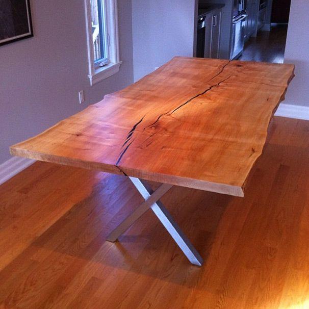 Live edge maple dining table | NaCoille Studio | Pinterest ...
