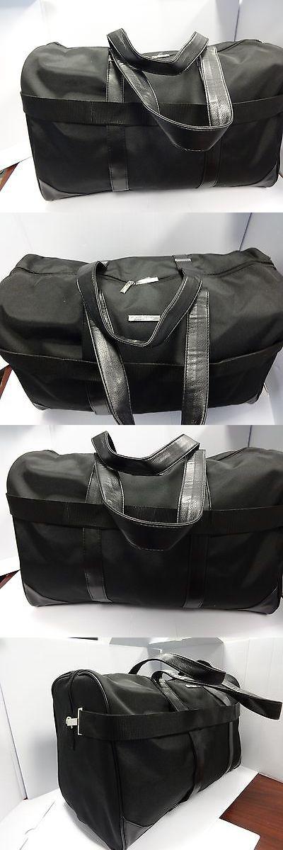 Giorgio Armani ~DUFFLE ~ GYM ~ Travel Large Bag New for Men Black SPORTS  92c341e80c19f