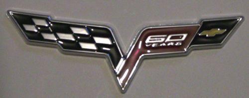Decal New CORVETTE 60 Years Anniversary Emblem Replaces OEM FENDER Badge