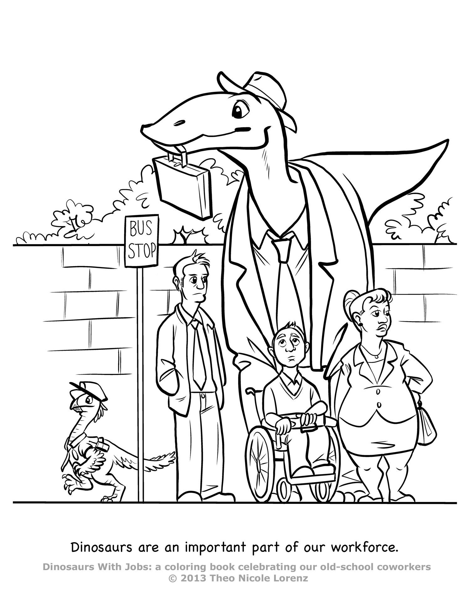 dinosaurs with jobs coloring book - Unicorns Are Jerks Coloring Book