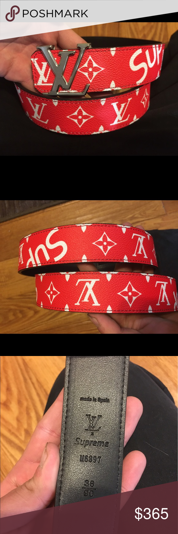 Louis Vuitton X Supreme Belt This Is A Brand New Collaboration It Has Never Been Worn And Made Of The Same Material As