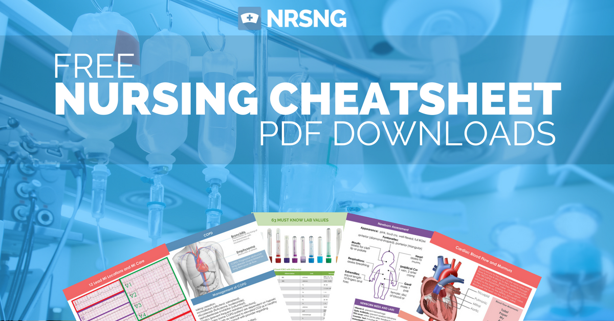 picture relating to Printable Nursing Reference Cards referred to as Totally free Nursing Cheat Sheet Downloads Nursing Nursing cheat