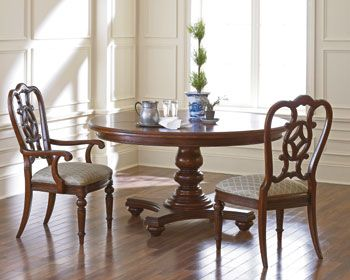 Fredericksburg Round Dining Table From Thomasville Love The Detail On Chair Backs