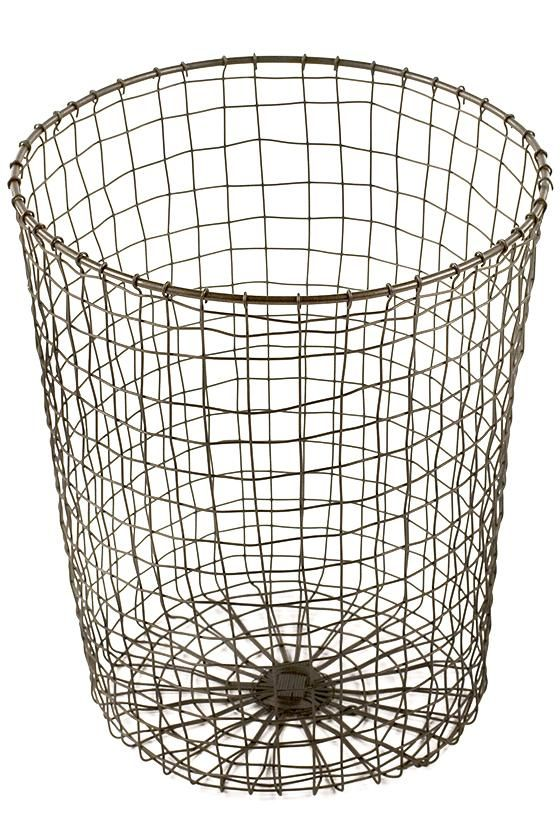 Wire Trash Can | Woven Wire Wastecan Wire Trash Can Decorative Trash Cans