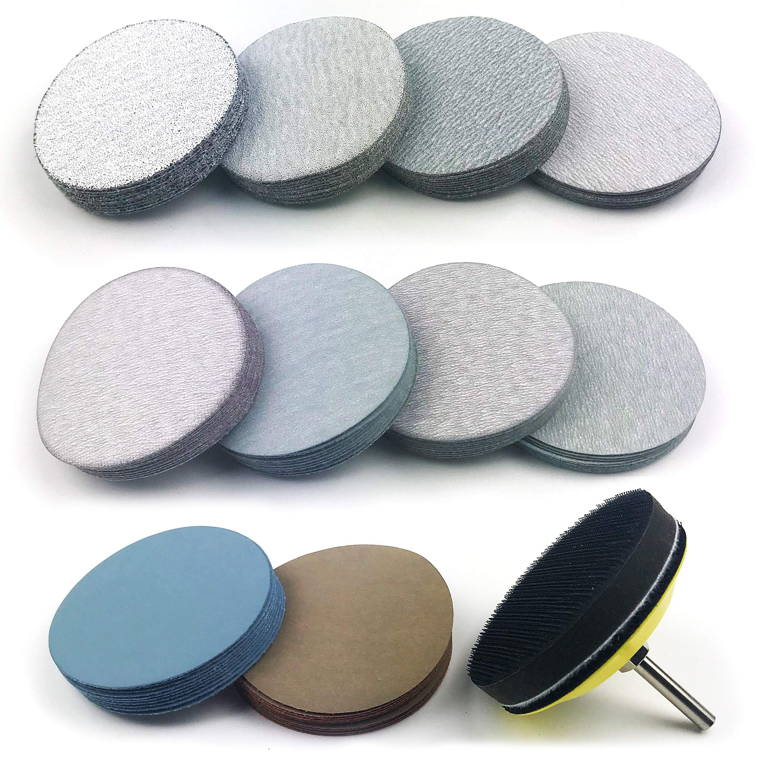 3 Inch Assorted Grits White Dry And Waterproof Wet Dry Hook And Loop Sanding Discs With 1 4 Inch Shank Sanding Pad Soft Foam Backed In 2020 Sanding Foam Wet And Dry