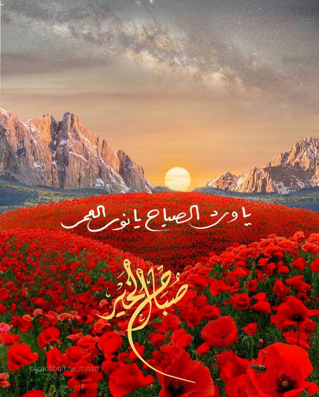 صبح و مساء Sur Instagram يا ورد الصباح يا نور العمر ص باح الخي ر Good Morning Arabic Good Night Wallpaper Good Morning Greetings