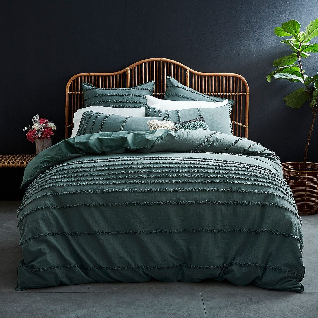 SINGLE DOUBLE QUEEN KING Crinkle Cotton Quilt Cover Set by Accessorize