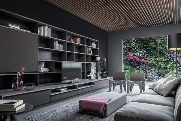 8 Living Room Interior Designs and Layout with Dramatic Dark Shades
