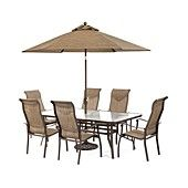 Oasis Outdoor Aluminum 7 Pc Dining Set 84 X 42 Dining Table And