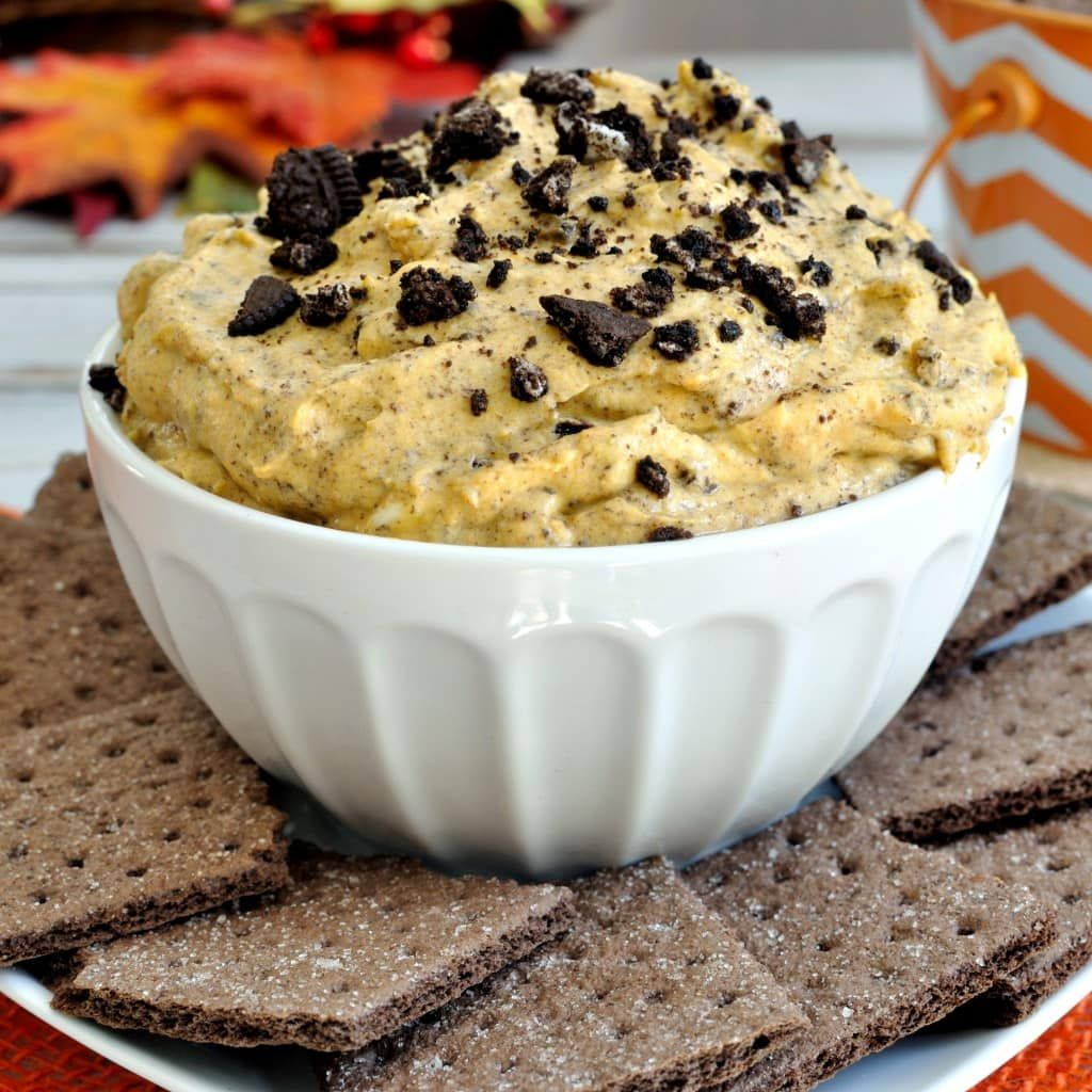 Perfect fall appetizer! This easy white cheddar sage pumpkin dip is great for Halloween, Thanksgiving or any fall gathering. Savory pumpkin dip goes well with crackers, chips or pretzels. #fall #appetizers #pumpkin #dips #snacks #partyideas #partyfood #recipes #halloween #thanksgiving #pumpkindip