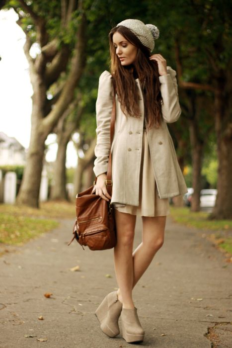 I love this but when will it ever be cold enough for a hat and coat but warm enough for a dress...