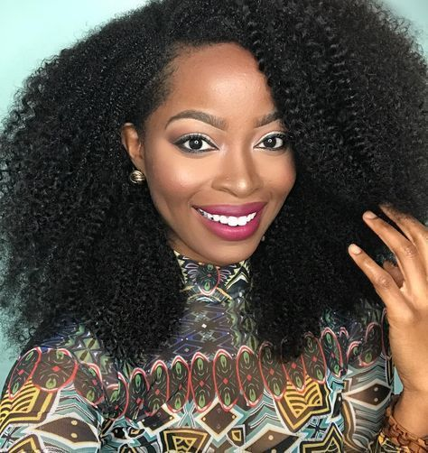 Want to add volume and length to your 3C/4A Kinky Hair? #kinkycurlywig