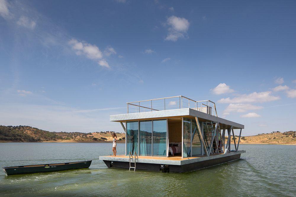 Wonen Op Woonboot : Friday ontwierp een luxe woonboot die eenvoudig verplaatsbaar is