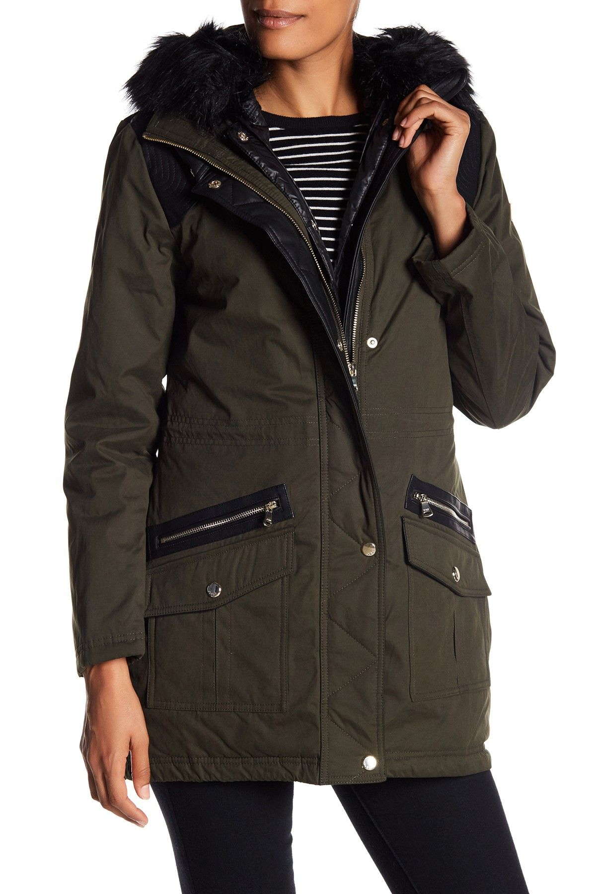 Faux Fur Trim Convertible Parka by GUESS on @nordstrom ...