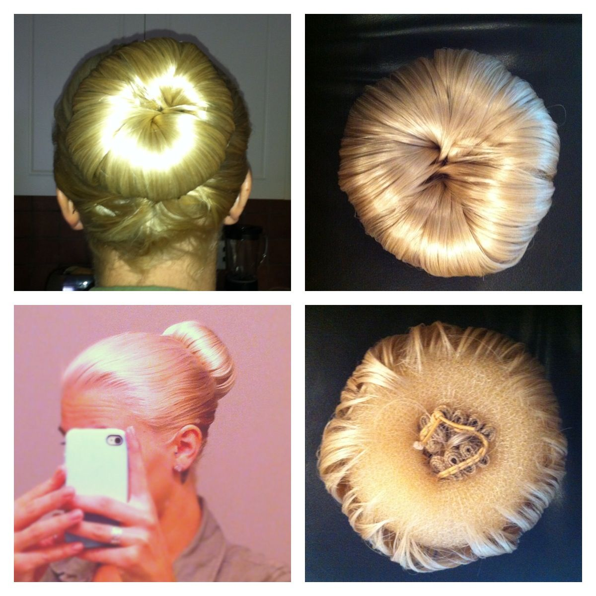 Fake Sock Bun For Short Hair Synthetic Pieces Wred Around A Donut And