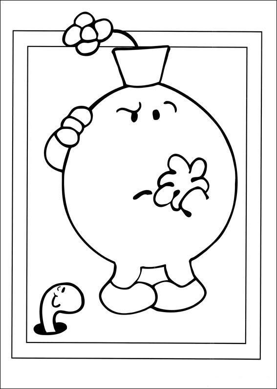 Mr. Men Tegninger til Farvelægning. Printbare Farvelægning for børn. Tegninger til udskriv og farve nº 26