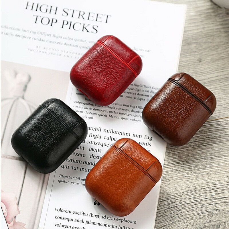 Genuine Leather Airpods Case Earphone Protective Skin Cover For Apple Airpod Leather Cover Leather Case Leather