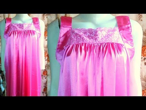 How to make a Nighty | Nighty drafting, cutting and stitching step ...
