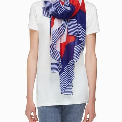 Red + White + Blue scarf