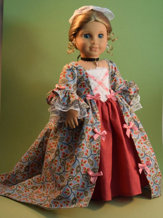 Elegant Details Colonial Gown with lovely Cameo by TheWhitePoodle