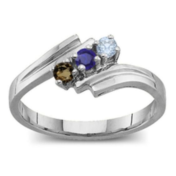 Zales Mothers Birthstone Split Shank Bypass Ring (2-7 Stones) CT1dR7s