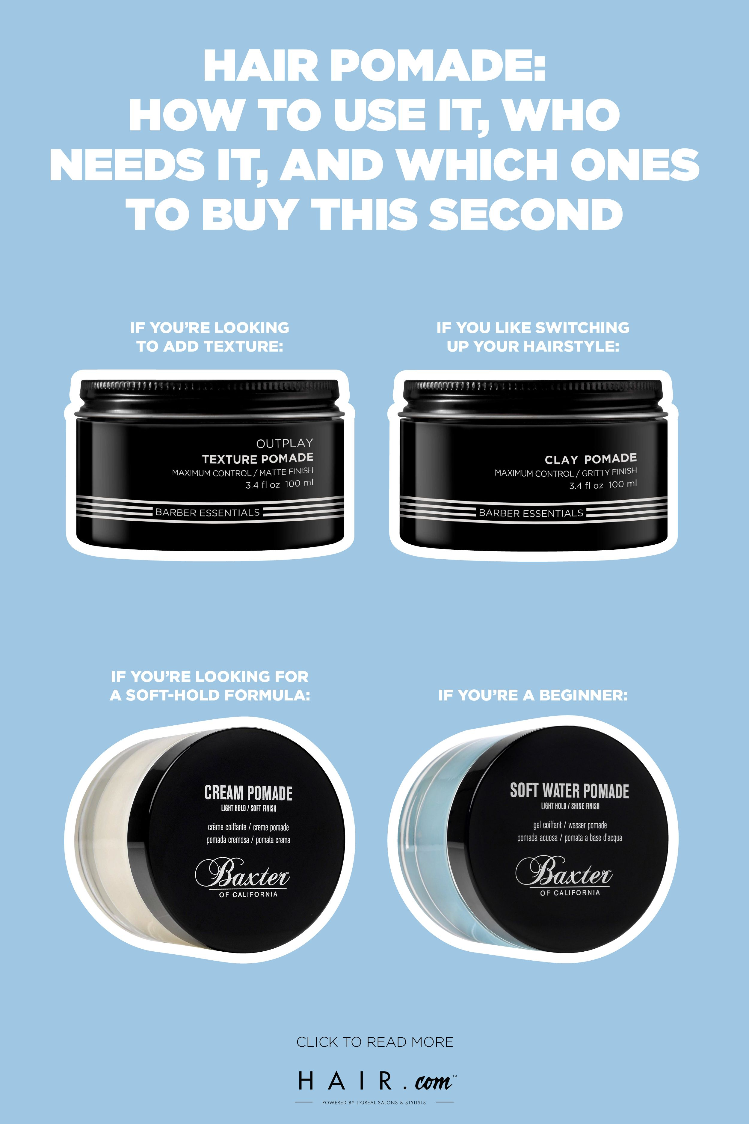 Hair Pomade How To Use It Who Needs It And Which Ones To Buy This Second Hair Pomade Water Based Pomade Mens Hair Care