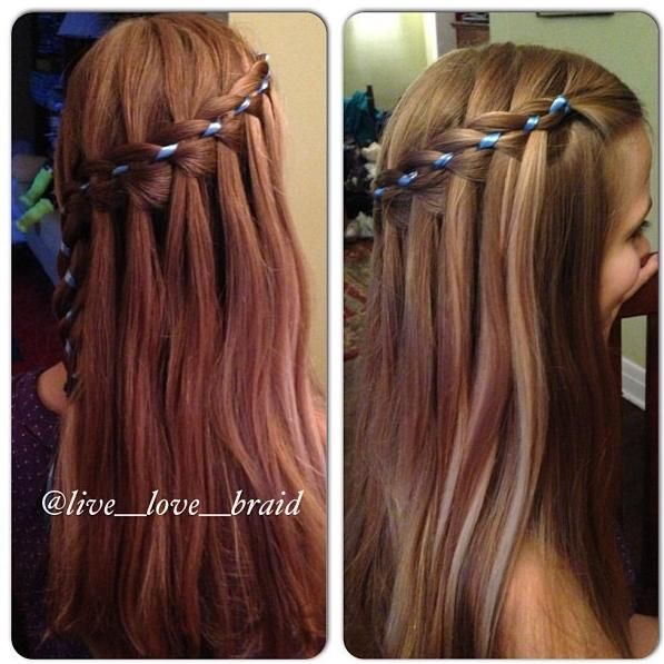 waterfall ribbon braid-I'm now going to spend my Sunday trying to figure this braid out ...