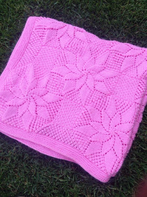 Baby Blanket Knitting Pattern Vintage Style - Baby Shower Gift ...