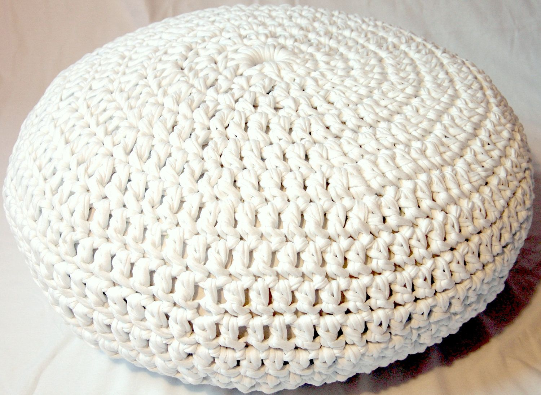 Crochet pouf pattern pdf | Alfombra tejida y Tejido