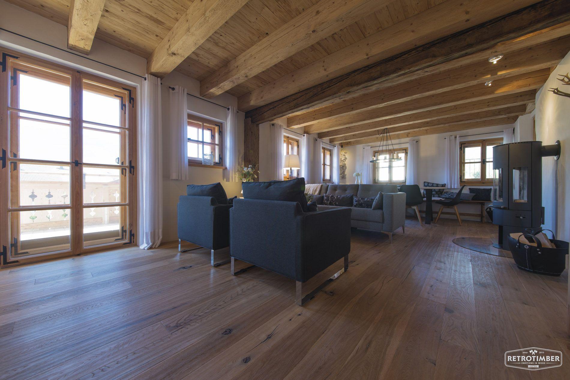 retrotimber | altholz, balken, hausbau, bau, fichte, lärche, Wohnzimmer dekoo