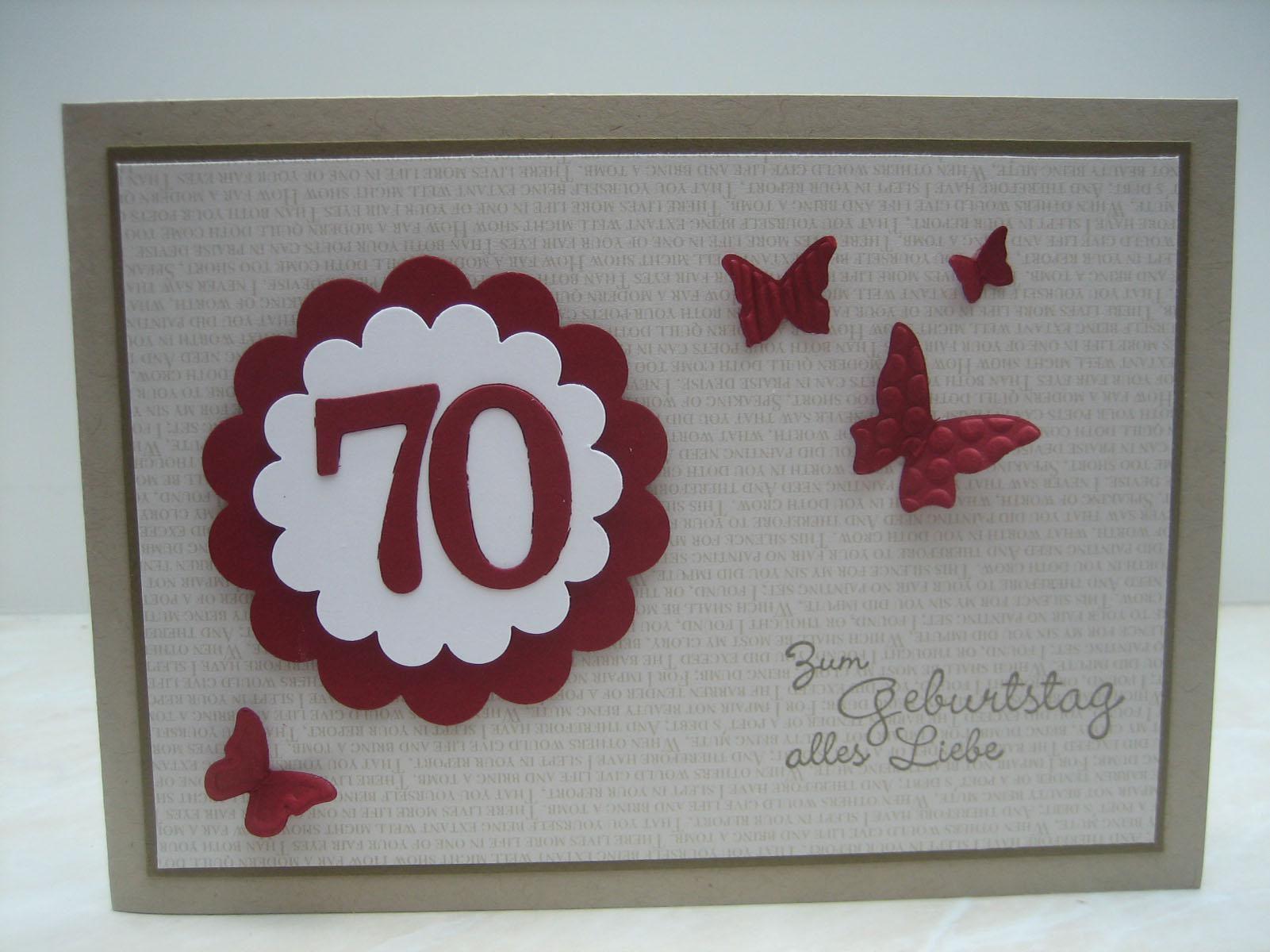 Einladungen Zum 70. Geburtstag Selber Basteln
