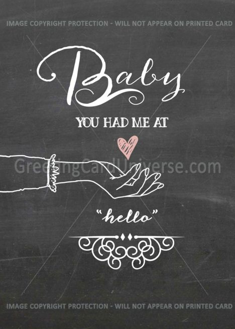 Baby, You Had Me at Hello - Be My Husband on Our Wedding ...