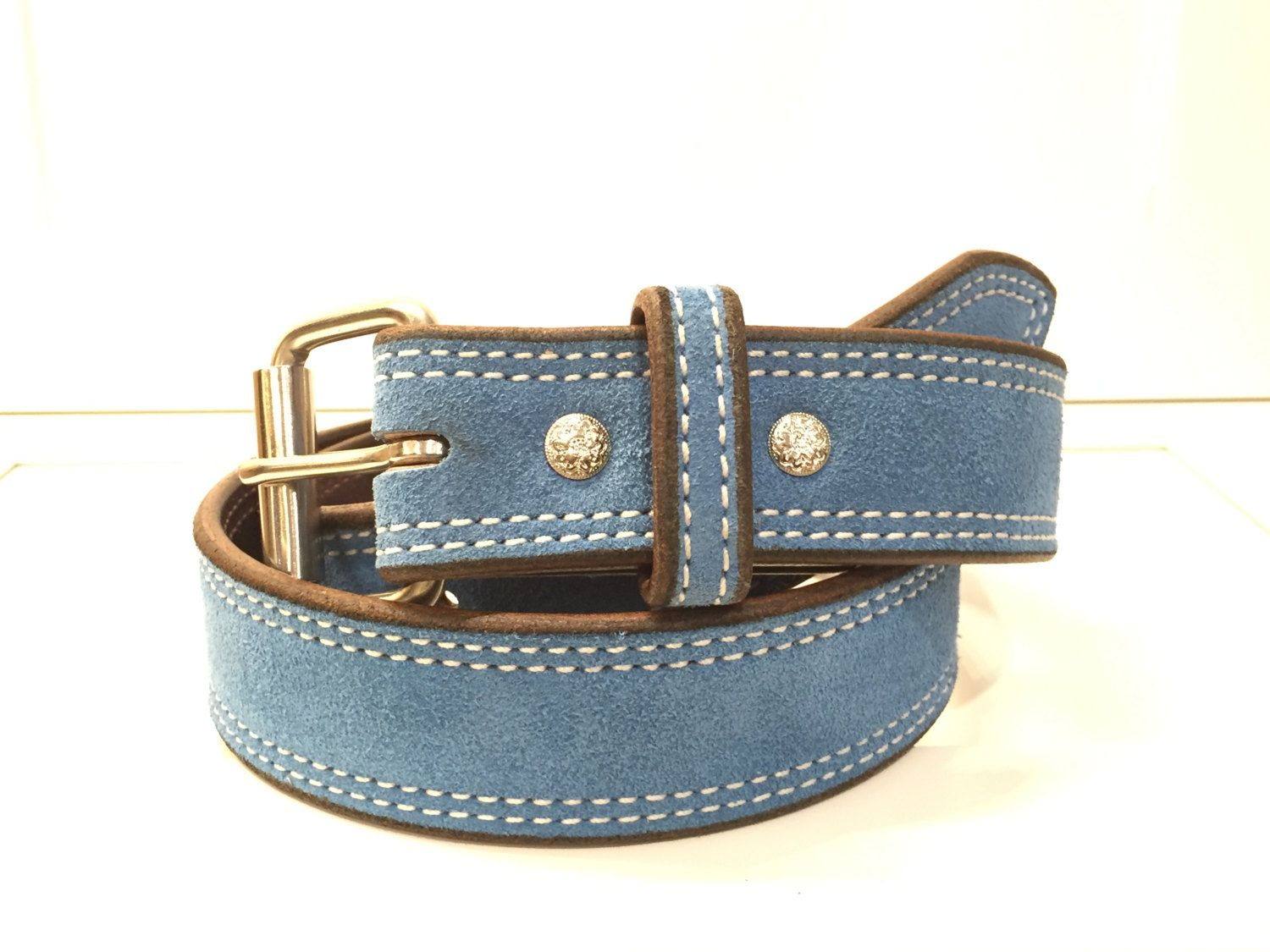 Sky Blue Suede Belt, Sky Blue Leather Belt,Sky Blue Belt, Blue Suede Belt, Blue Leather Belt, Blue Belt, Light Blue Belt, Unisex Belt by JEllisLeatherDesigns on Etsy