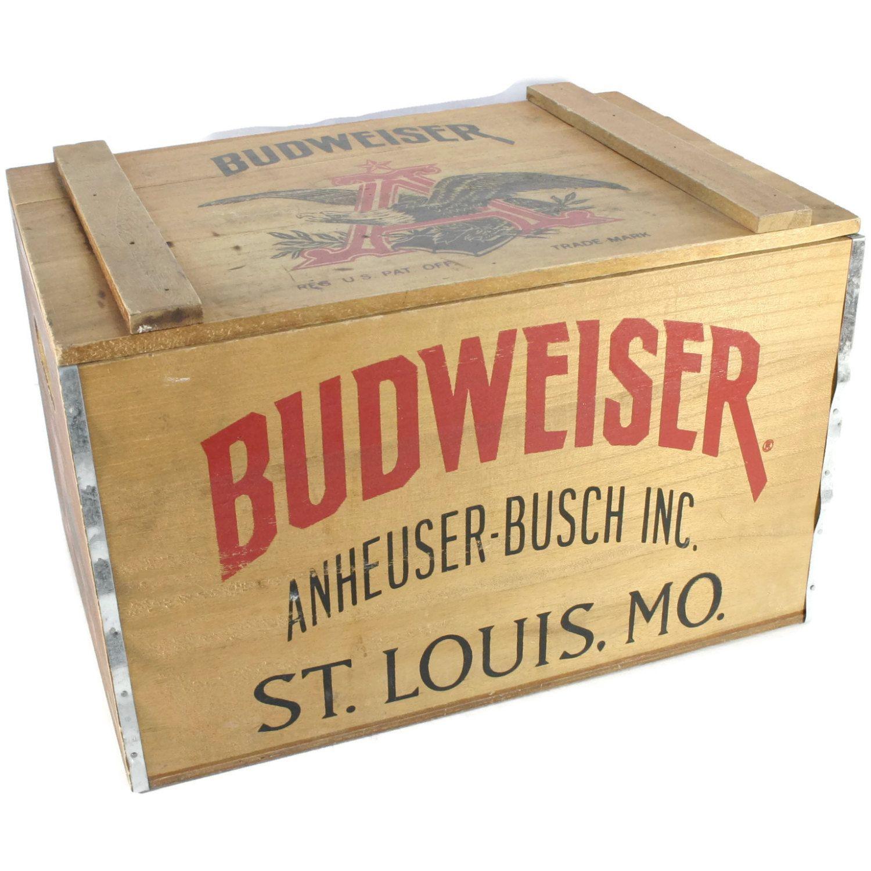 Vintage Budweiser Wooden Box Wiring Diagrams 20100000 Cps Triangularwave Generator Circuit Diagram Tradeofic Beer Crate Bicentennial Rh Pinterest Com Old John