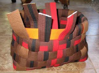 Craft basket with old karate belts! #DIY | DIY | Karate
