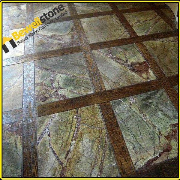 Rainforest Green Marble Tile : Custom design rainforest green marble bathroom honed