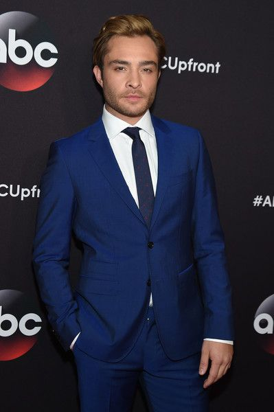 Ed Westwick Suits Up for the 2015 ABC Upfront Presentation