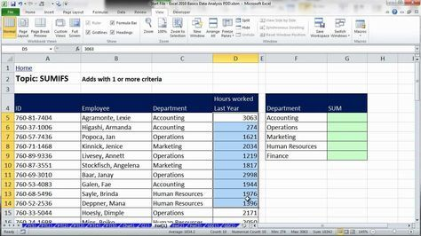 Excel Data Analysis Sort, Filter, PivotTable, Formulas (25 Examples - spreadsheet formulas