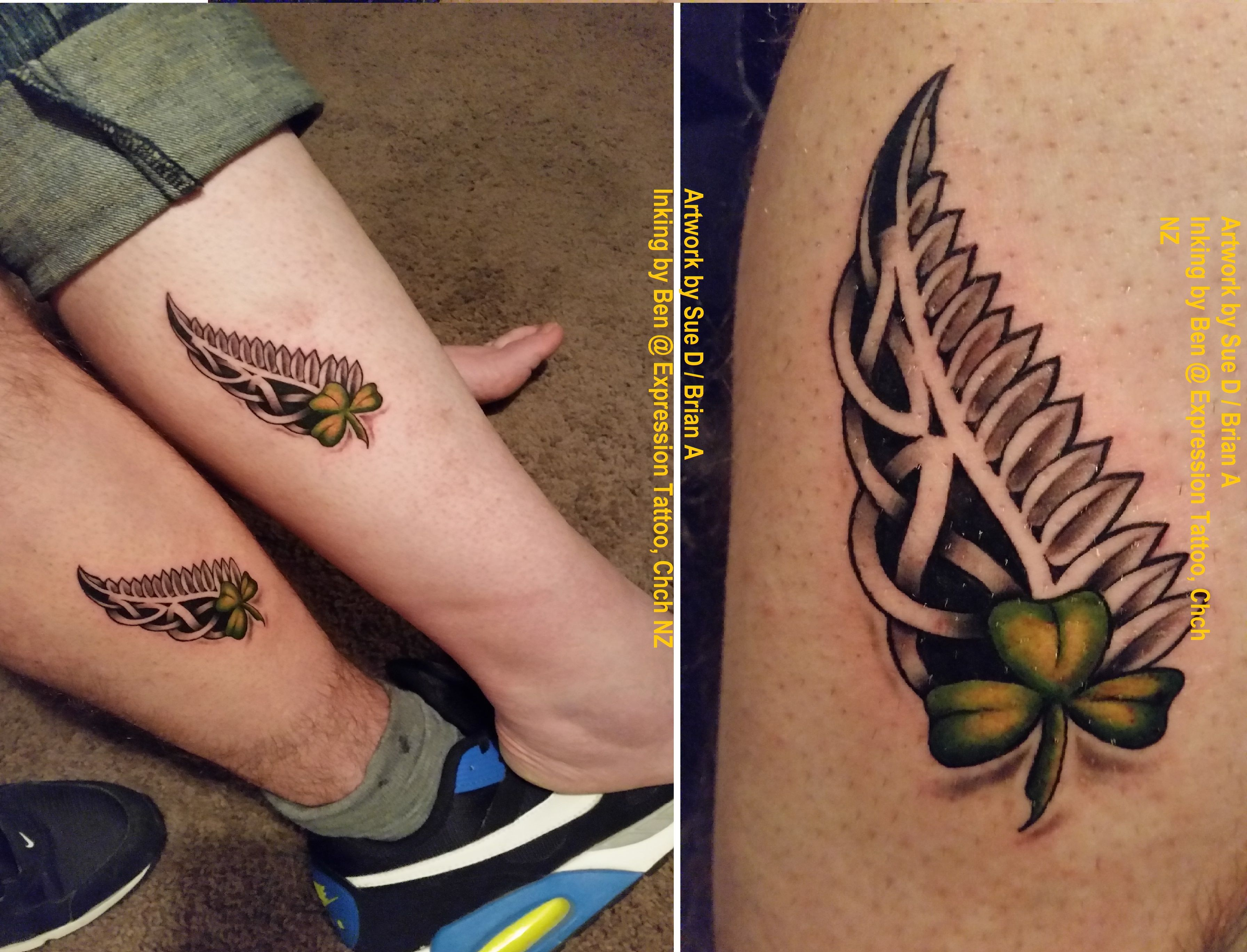 Maori Fern Tattoo: The Joining Of Our Two Souls Here: NZ Silver Fern (me