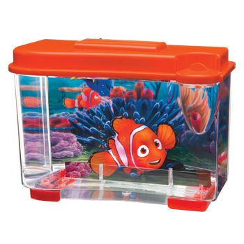 Small finding nemo themed betta fish tank at petco fish for Betta fish tanks petco