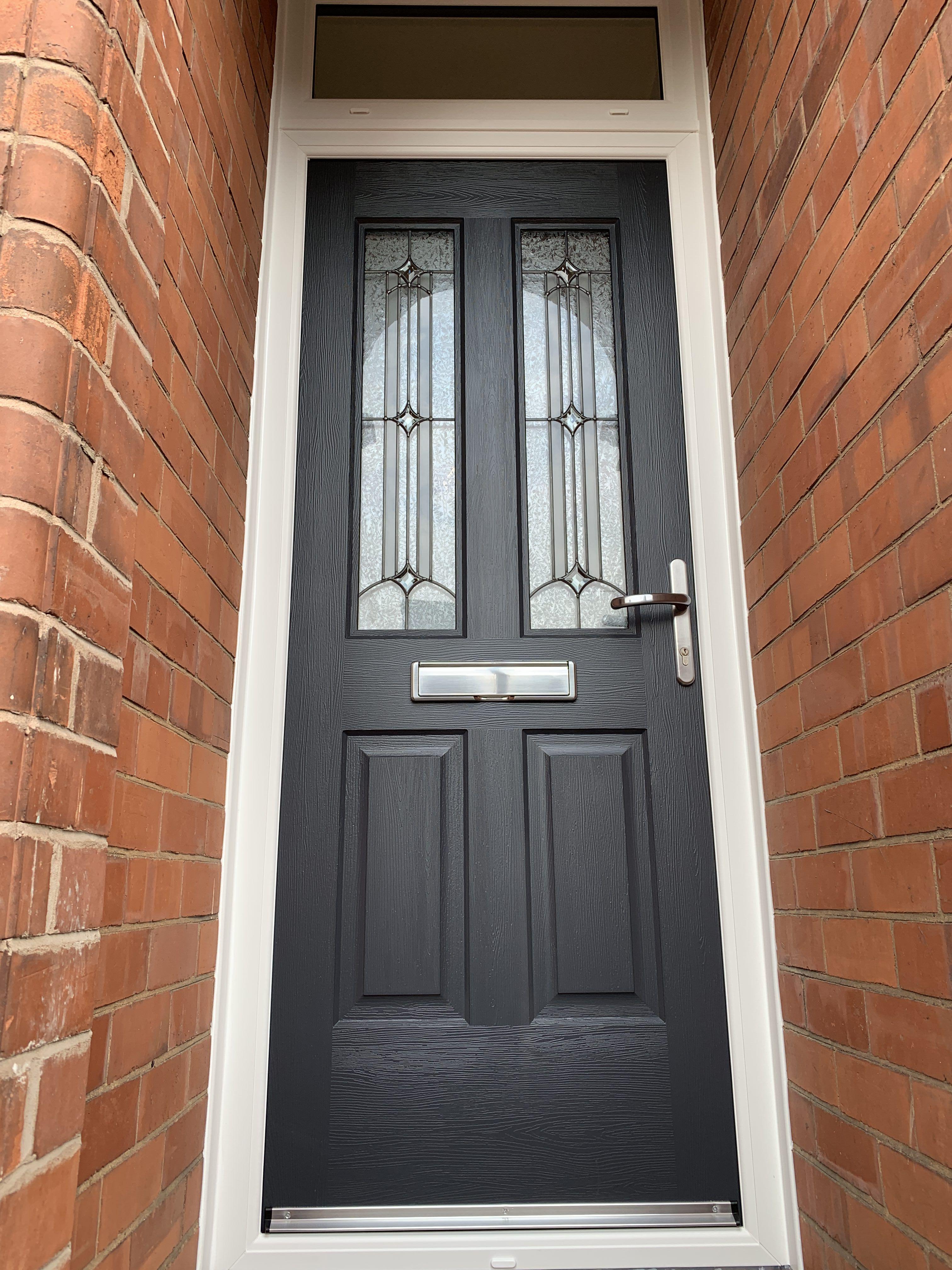 Rockdoor Jacobean Scorpio In Anthracite Grey Fitted In Nottingham Rockdoor Verysecuredoors Rockdoors C External Front Doors Composite Door Grey Front Doors