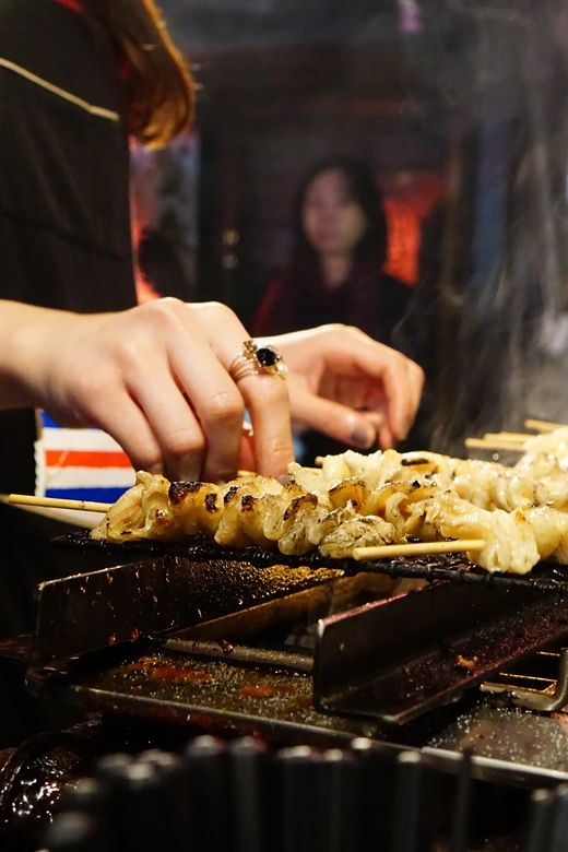 Omoide Yokocho - tiny yakitori restaurants nearby Shinjuku station
