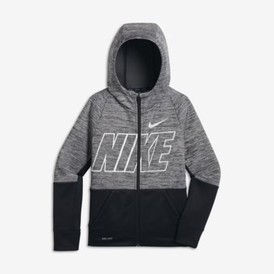 fc5a8086 Find the Nike Dri-FIT Therma Older Kids' (Boys') Full-Zip Training Hoodie  at Nike.com. Free delivery and returns on select orders.
