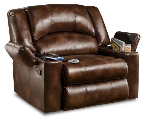 Simmons Encore Bonded Leather Oversized Downtime Lounger Recliners At Hayneedle Recliner Chair Leather Lounge Modern Recliner