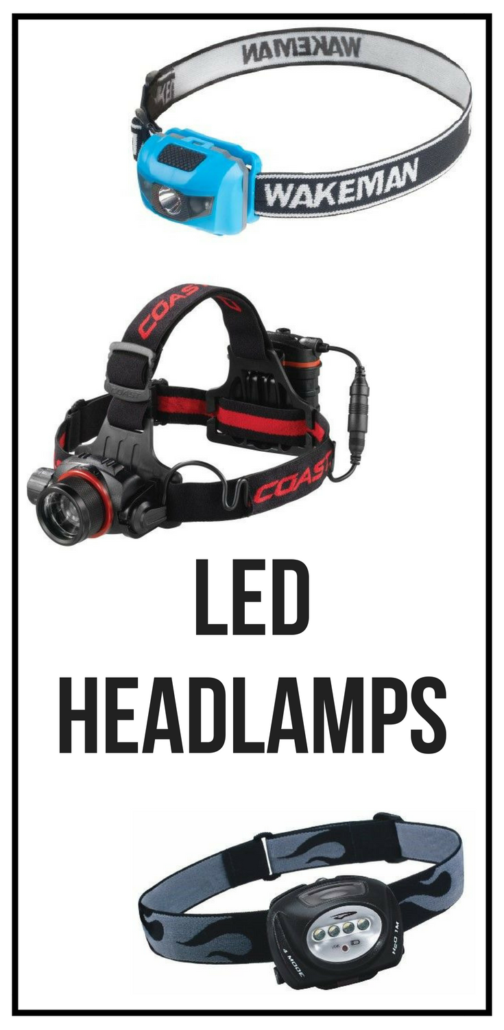 A variety of headlamps. Perfect for boat repairs to keep your hands ...